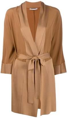 Agnona wrap midi coat