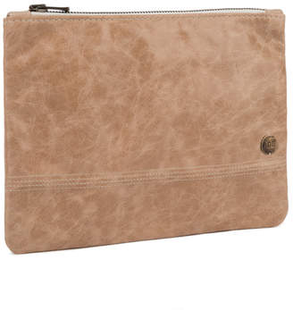 Age Carriers Ivory Leather Zip Pouch