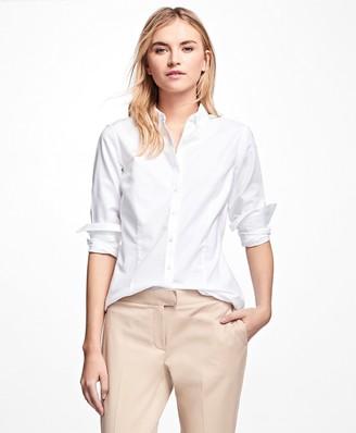 Brooks Brothers Petite Non-Iron Tailored-Fit Supima Cotton Dress Shirt