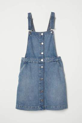 H&M Bib Overall Dress - Denim blue - Women