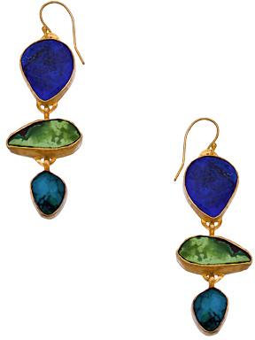 Lapis Heather Benjamin Turquoise Earrings