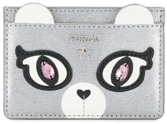 Furla bear face card holder