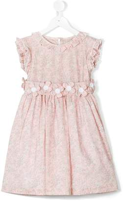 Cashmirino Floral applique dress
