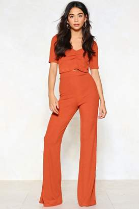 Nasty Gal Erin Crop Top and Flare Pants Set