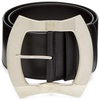Miu Miu Leather Waist Belt - Womens - Black