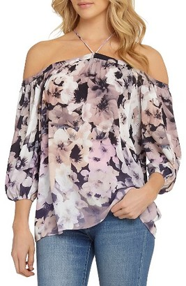 Women's 1.state Off The Shoulder Sheer Chiffon Blouse $79 thestylecure.com