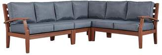 HomeVance Outdoor HomeVance Glen View Brown Patio Sectional Sofa 4-piece Set