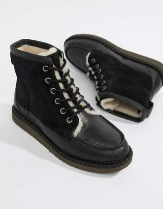 UGG Quinlin Lace Up Boot in Black