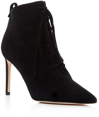 Delman Becca High Heel Lace Up Booties $498 thestylecure.com