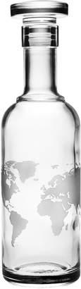 Susquehanna Glass Co. Map of the World Luigi Bormioli Classico Decanter