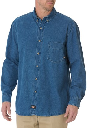 Dickies Men's Denim Button-Down Work Shirt