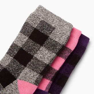 Roots Toddler Plaid Sock 3 Pack