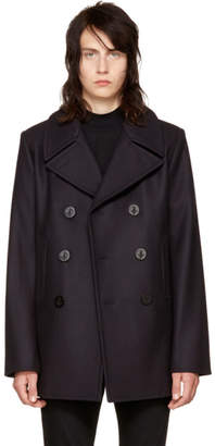 Saint Laurent Navy Classic Peacoat