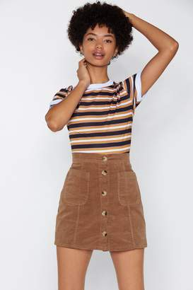 Nasty Gal From Now Button Corduroy Skirt
