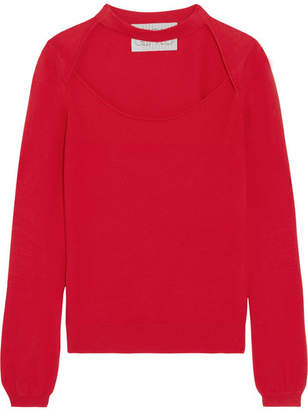 Victor Glemaud - Cutout Cotton And Cashmere-blend Sweater - Red