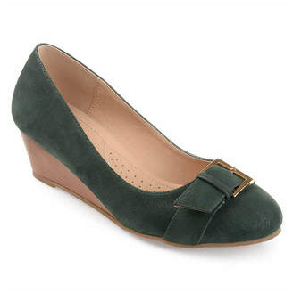 Journee Collection Womens Graysn Pumps Round Toe Wedge Heel