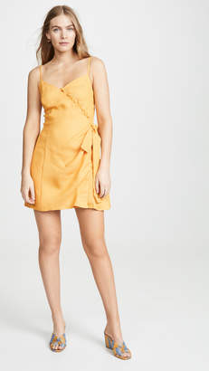 Moon River Tangerine Mini Dress