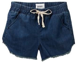 Hudson Chambray Jogger Fray Shorts (Big Girls)
