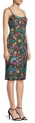 BCBGMAXAZRIA Embroidered Bustier Sheath Dress
