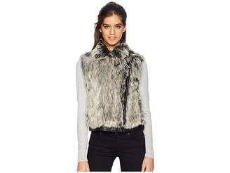 Cupcakes And Cashmere Alonso Moto Faux Fur Vest Women's Vest