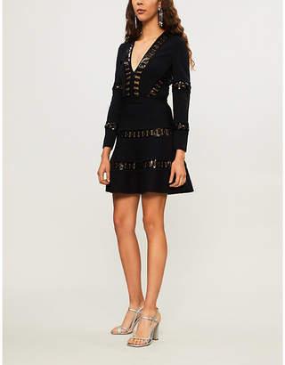 Elie Saab Sequin-embellished stretch-knit dress