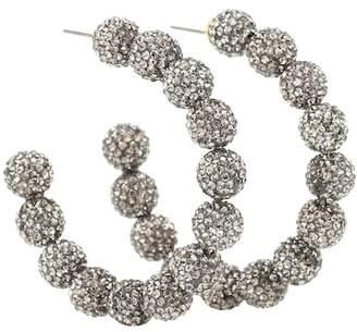 Lele Sadoughi Stardust crystal hoop earrings