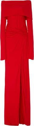 Prabal Gurung Off-The-Shoulder Twist Crepe Gown