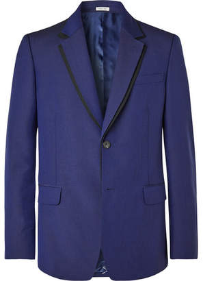 Royal-Blue Slim-Fit Wool And Mohair-Blend Suit Jacket