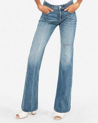 Express Mid Rise Seamed Stretch Bootcut Jeans