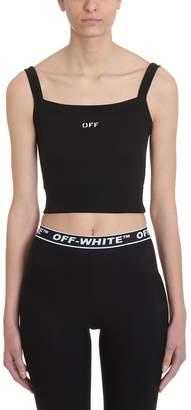 08926e292b7c9 Off-White Off White Crop Top Black Cotton