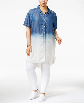 Justice Poetic Trendy Plus Size Chambray Shirtdress
