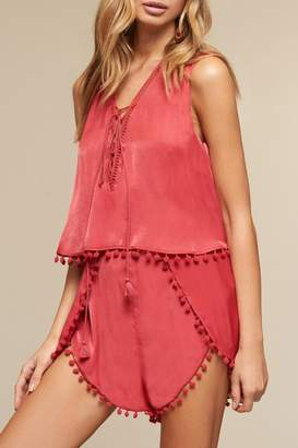 The Jetset Diaries Red Leone Romper