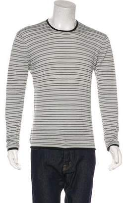 Armani Collezioni Silk-Blend Striped Sweater