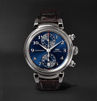IWC SCHAFFHAUSEN Da Vinci Edition Chronograph 42mm Stainless Steel And Alligator Watch
