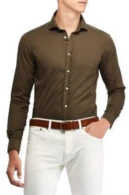 Ralph Lauren Purple Label Fine Twill Button-Down Shirt