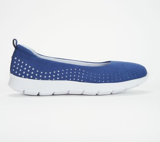 Clarks CLOUDSTEPPERS by Perforated Slip-On Shoes- Step Allena Sea