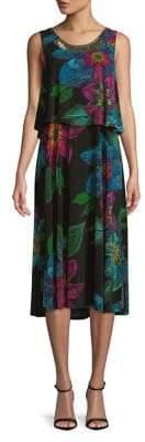 Rafaella Petite Floral Tiered Dress