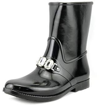Michael Kors Womens Leslie Rubber Closed Toe Mid-Calf Rainboots