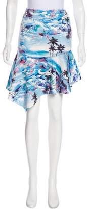 Mo&Co. Edition Printed Asymmetrical Skirt