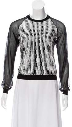 Roland Mouret Cropped Sheared Sleeve Sweater