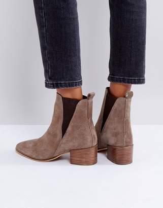 Dune Suede Heeled Chelsea Boots