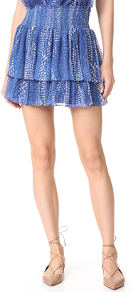 Ramy Brook Ibiza Dot Printed Annabelle Skirt $285 thestylecure.com