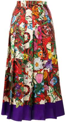 Gucci floral printed skirt