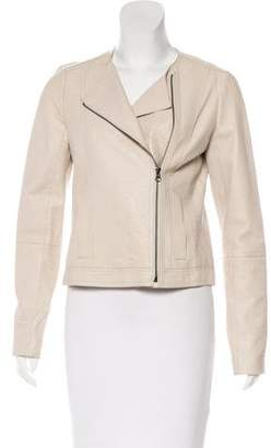 Vince Leather Embossed Jacket