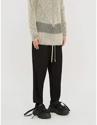 Rick Owens Relaxed-fit dropped-crotch wool-blend trousers