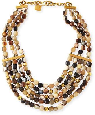 """Ashley Pittman Kubwa Multi-Strand Necklace, 21""""L"""