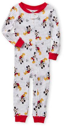 Disney Junior (Infant Boys) Striped Mickey Pajamas
