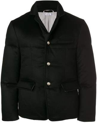 Thom Browne Tonal Grosgrain Down-Filled Cashmere Sport Coat