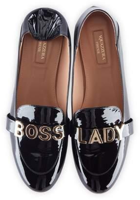 Aquazzura Boss Lady Fold-Down Moccasin Loafers
