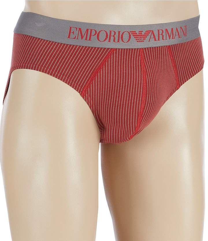 Emporio Armani Striped Pattern Mix Briefs